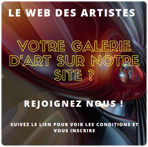 Ouvrez votre galerie d'art sur notre siteweb