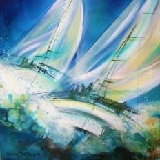 Les danseurs marins d'azur 3810-AC-40x40