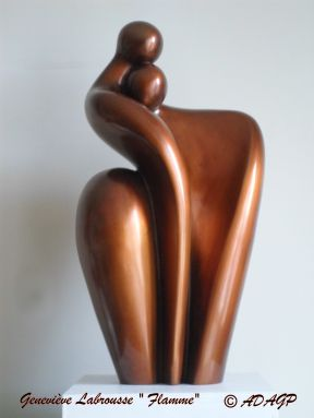 Flamme, bronze, 50cm-