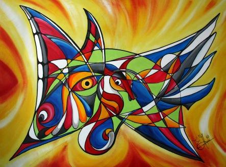 0335 Le papillon-char aux dauphins
