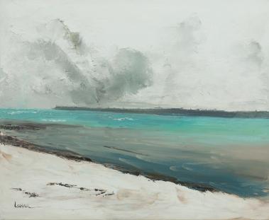 LAVENU_Mer en hiver Huile 73x60cm 20F