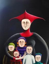 16- La Mère aux cinq enfants - 60P ( 130cm x 89cm