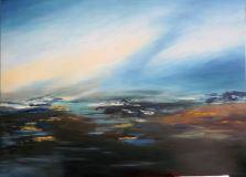 201Huile Entre Ciel et terre 100 x 72 cm