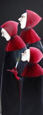 13- Les trois nonnes- 150cm x 50cm