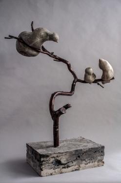 arbre de la ville-turzo- béton et metal-100 cm1