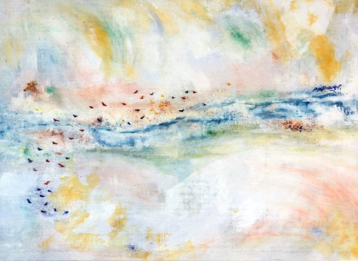 au fil de l'eau peinture sur toile et mozaiques(1)
