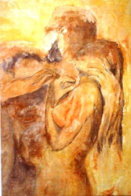 peinture nu sur toile N°1