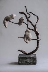 tree art béton et metal h=45 cm 01