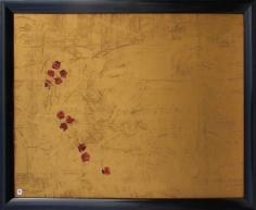 des roses sauvages,2016,peinture à l'huile,105-125cm
