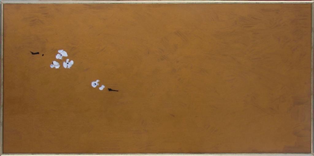 Fleurs de cerisiers,2013,peinture à l'huile,152-77cm